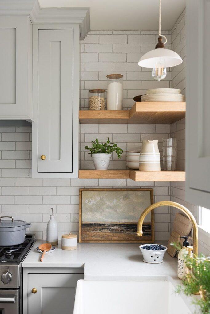 42 фото Кухни с Открытыми Полками