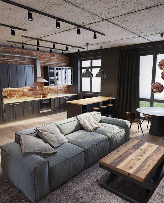 50+ фото интерьера квартиры в стиле лофт