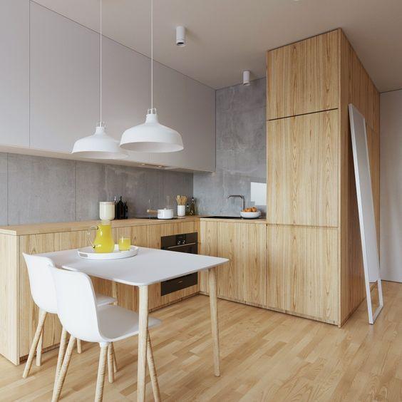33 Идеи Светлой Деревянной Кухни