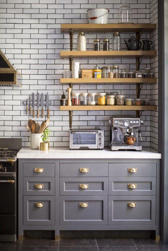 35+ Идей Трендовой Кухни с Открытыми Полками
